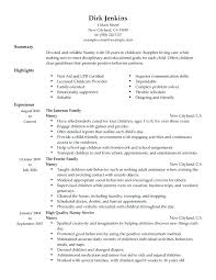 resume nanny sample unforgettable full time nanny resume examples