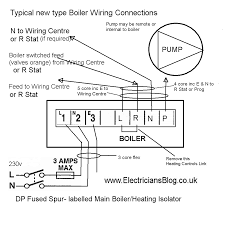 modern central heating boiler wiring connection diagram5