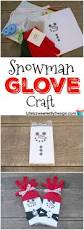 snowman glove craft helps layer on love christmas ornament