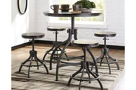 Odium Counter Height Dining Room Table And Bar Stools Set Of - Countertop dining room sets