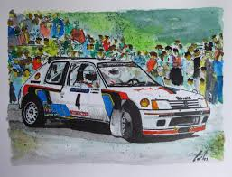 peugeot 205 group b peugeot 205 turbo 16 evo 2 carlos sampol draw to drive