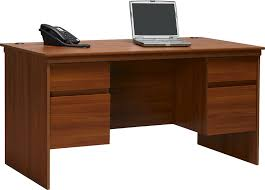 Desk With Top Shelf Office Winsome Luther Executive Desk With File Cabinet Great