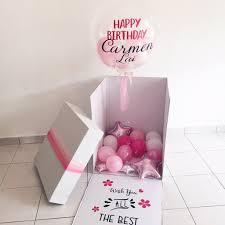 balloon in a box balloon box design e giftr malaysia s
