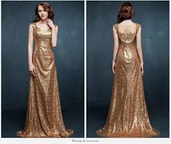 buy evening dresses online new shining sequins gold applique