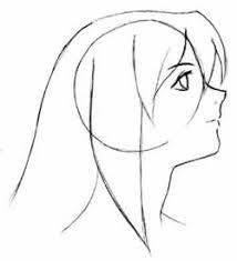 anime head outline