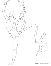 ribbon individual all around rhythmic gymnastics coloring page