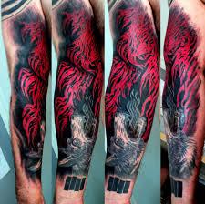 unique flames tattoo on arm flame forearm tattoo designs