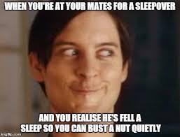 Sleepover Meme - spiderman peter parker meme imgflip