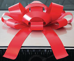 big present bow big car bow magnetic back vinyl no scratch free