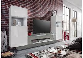 Wohnzimmer Modern Beton Medienwand Weiss Glänzend Beton Grau Woody 93 01032 Woody Möbel