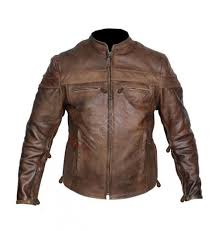 mens leather moto jacket vintage cafe racer brown leather motorcycle jacket