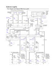 wiring diagram exterior lights for turn signal and hazard