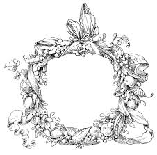 vintage clip fab ornate wreath frame the graphics