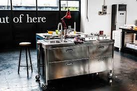 küche freistehend edelstahl küchen möbel