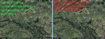 Google Maps Rotate Milsar How To Restore Correct Direction Of Arrows In Kml In