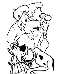 doo coloring pages gang