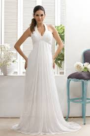 plain empire halter top court train taline u0027s wedding dress 8872233
