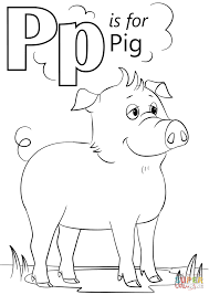 letter p is for pig coloring page free printable coloring pages