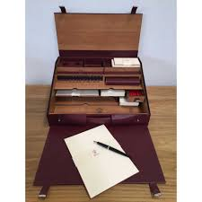 travel desk images Pineider 1949 travel writing desk set stationery pens jpg