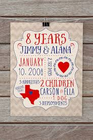 8 year anniversary gifts personalized anniversary gifts custom gift for husband 8