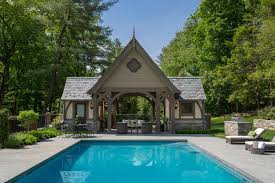 pool house douglas vanderhorn architects mid country tudor pool house