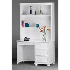 gorgeous white computer desk with hutch solid wood small computer
