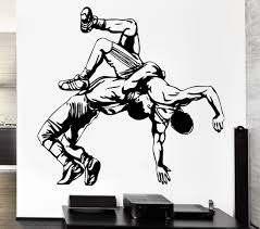 sport wall vinyl decals page 2 wallstickers4you wall decal sport athletes sparring fight shooting wrestling vinyl decal ed360