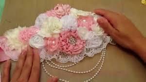 Flower Belts - shabby pink maternity sash