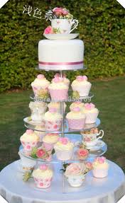 baby shower of cake stand u0027 wholesale round 5 tier disposable