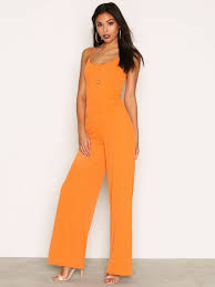 strappy jumpsuit strappy jumpsuit nly trend orange jumpsuits clothing
