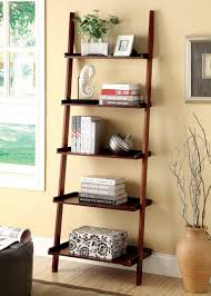 Leaning Bookcase Woodworking Plans by Amazon Com Furniture Of America Klaudalie 5 Tier Ladder Style