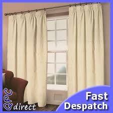 Lined Cotton Curtains Heavy Weight Cream Cotton Curtains 90