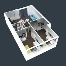 Small House Layout by 3d Two Bedroom House Layout Design Plans 22449 Interior Ideas