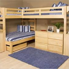 Bedroom Triple Bunk Beds For Adults Be Equipped With Brown Finish - Navy bunk beds
