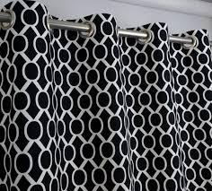 Black And White Striped Curtain Panels Winning Black And White Check Curtain Panels Panel Curtains Black