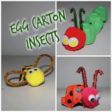 egg carton insect craft diy youtube