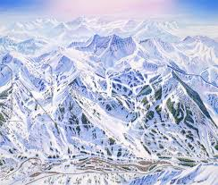 Map Of Colorado Ski Areas by James Niehues Artist Ski Trail Map Regional Views Scenic