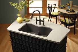 Narrow Sinks Kitchen Alluring Granite Composite Sinks Ideas Dusk Gray Color Small
