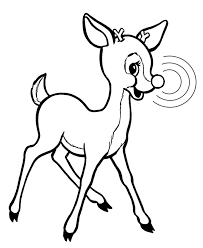 rudolph reindeer coloring page holiday christmas winter
