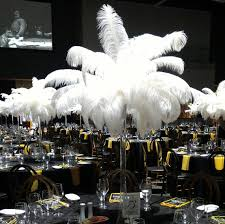ostrich feather centerpieces 5ft eiffel tower ostrich feather centerpiece with white