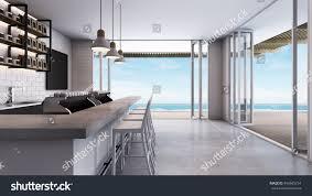 coffee shop loft modern take sea stock illustration 494565754