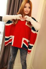 Kenya Flag Clothing 2018 2015 Women Cute British England Flag Shirt Bat V Neck Long