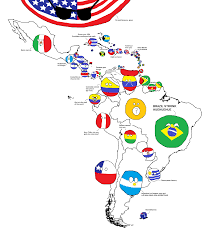 Map Of Columbia South America by Map Of Latin America By Globalis Polandball Countryball