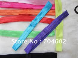 ribbon headbands wholesale baby shiny thin elastic hair bands fashion satin ribbon