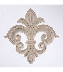 de lis wall decor white wood