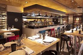pleasing restaurant design with concrete the interior concept is a