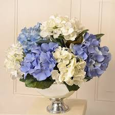 silk hydrangea floral home decor silk hydrangea floral arrangement in bowl