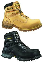 caterpillar cat foundation mens steel toe work safety boots shoes