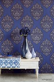 Purple Damask Wallpaper by 8 Best Powder Room Images On Pinterest Black And White Damask