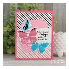 k designs st n foil butterfly kisses dies set therm
